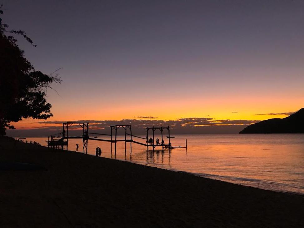 Sunset upon Lake Malawi.