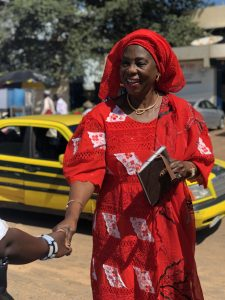 Minister of Health, Dr. Isatou Touray, arriving at World Population Day commemoration.