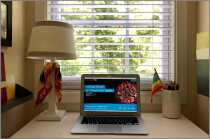 Greetings from… my home desk!