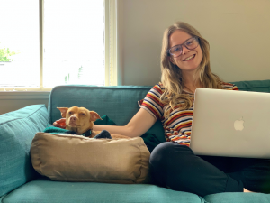 My Work From Home colleague and me.