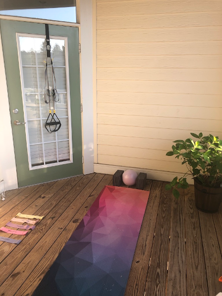 My porch/gym/office