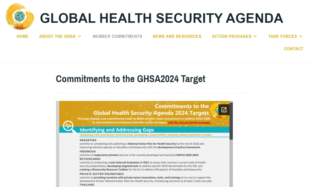 Exciting to see my work make its way onto the GHSA website as a resource for countries.