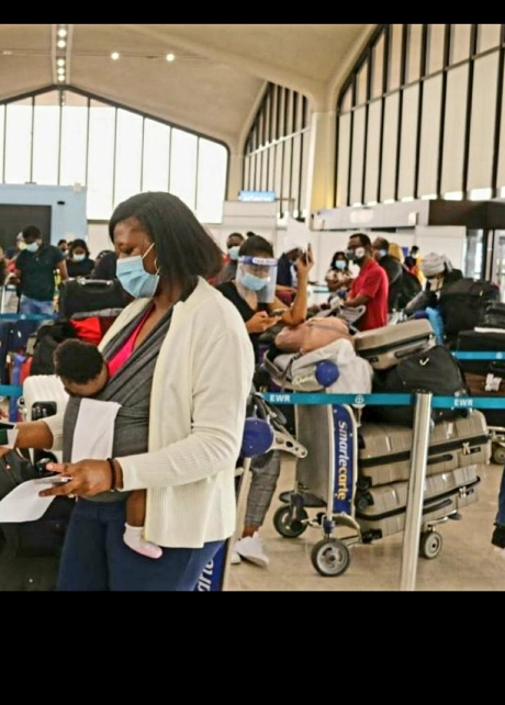 """Departing New Jersey to Lagos, Nigeria whilst observing physical distancing- """"the new normal."""""""