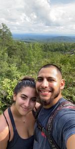 My partner and I at Hanging Rock