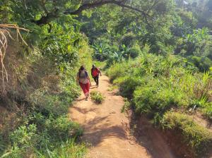 Hiking to Kisamba Village