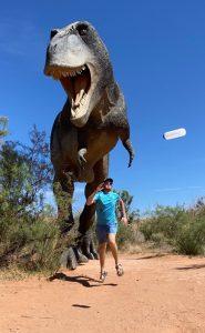 Running from a T-rex