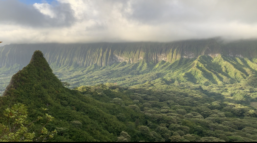 the best thing about practicums being remote? Getting to check off some major bucket list hikes/climbs, this is peak three of Olomana in Oahu!